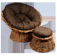 rieten fauteuil Papason grove rotan