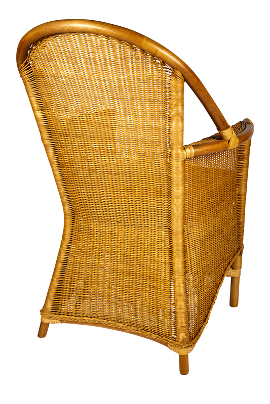 rieten eetkamerstoel dublin in de honing kleur. super rotan stoel.
