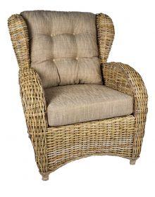 rieten fauteuil Orlando kobo grey