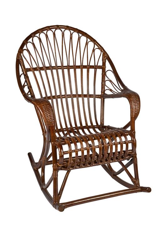 rieten schommelstoel