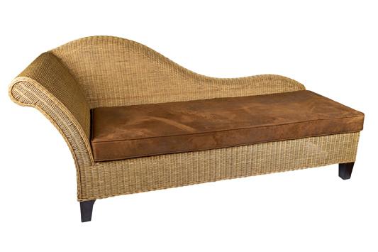 rieten lounge bank Cleopatra