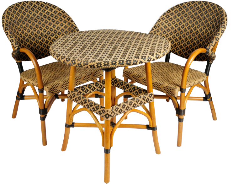rotan stoel en tafel Harbor