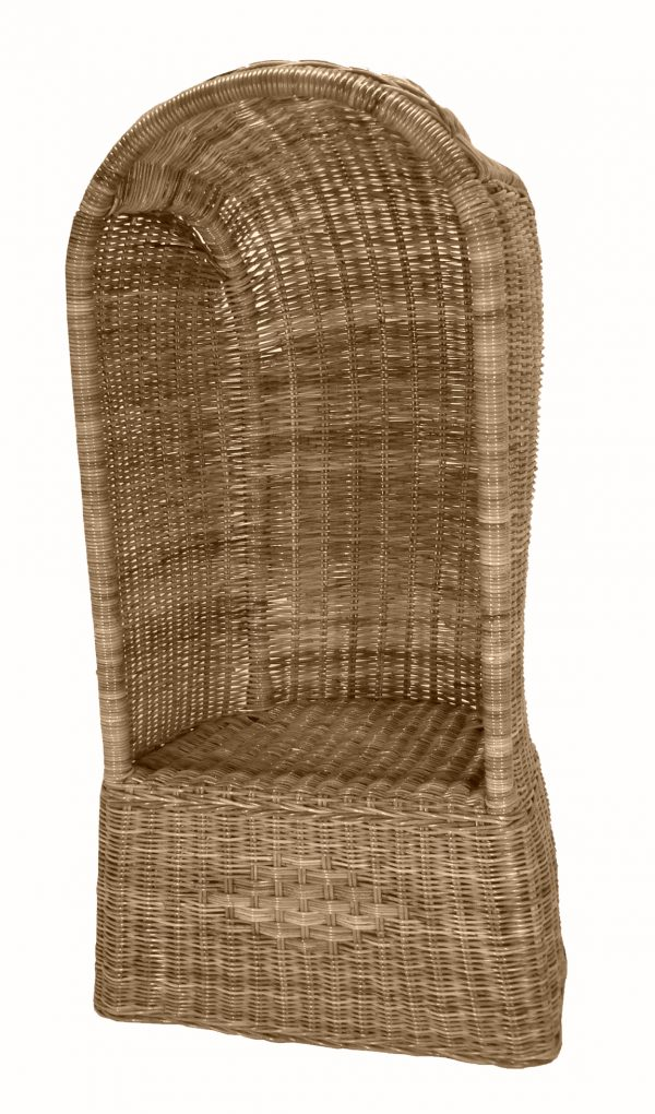 rotan grijze strandstoel