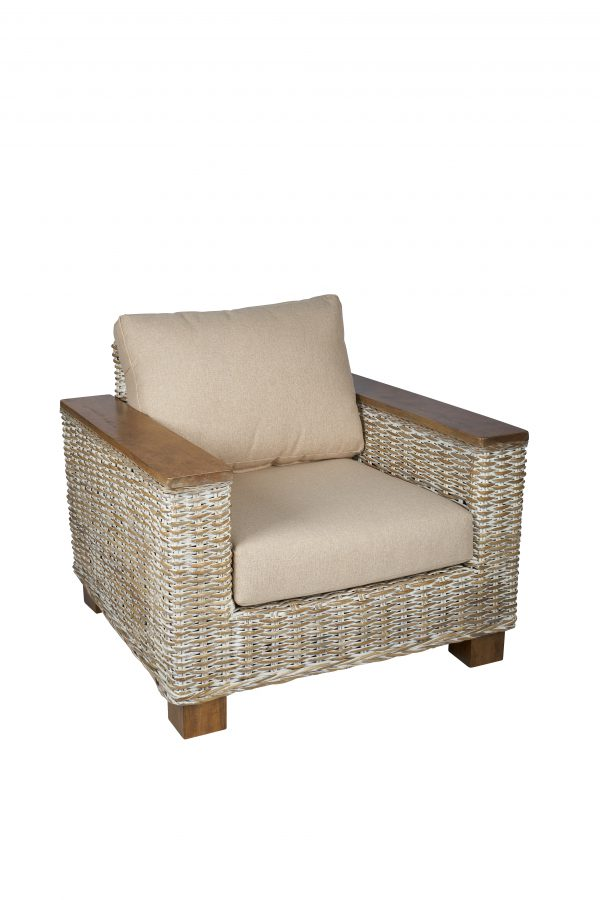 super rotan fauteuil met hout