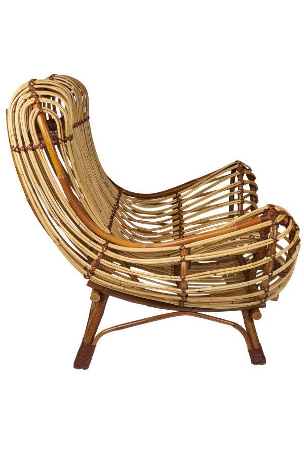rotan fauteuil Bangkok zijkant