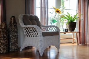 rotan fauteuil Cambell kleur wit