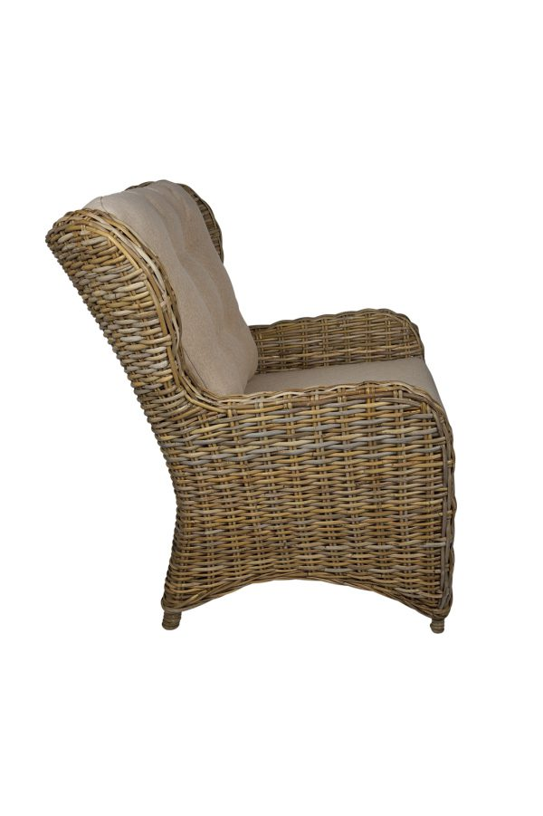 rotan oorfauteuil kobo grey boston