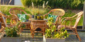 Stapelbare terrasstoel Roos met tafel