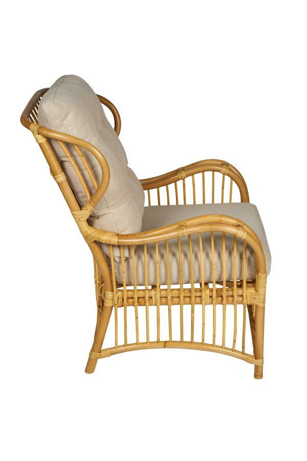 rotan fauteuil Denver zijkant