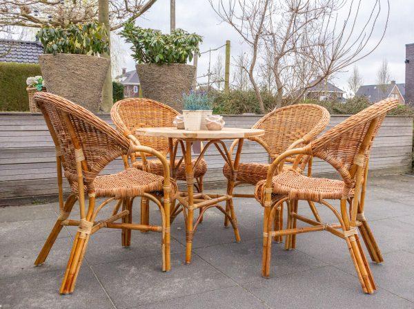 rotan terrasstoel petra met tafel