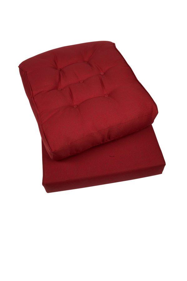 kussen rood voor rotan stoel
