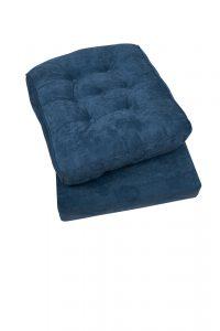 kussen voor rotan stoel blauw